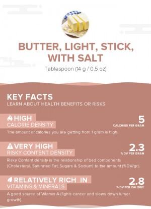 Butter, light, stick, with salt