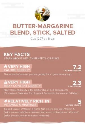 Butter-margarine blend, stick, salted