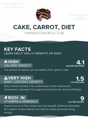 Cake, carrot, diet