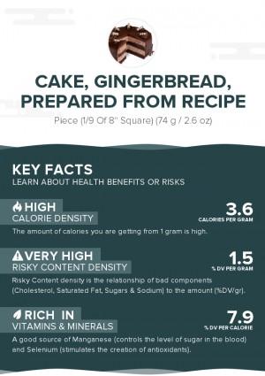 Cake, gingerbread, prepared from recipe