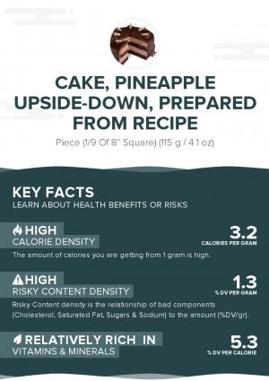 Cake, pineapple upside-down, prepared from recipe