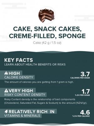 Cake, snack cakes, creme-filled, sponge