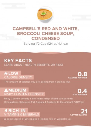 CAMPBELL'S Red and White, Broccoli Cheese Soup, condensed