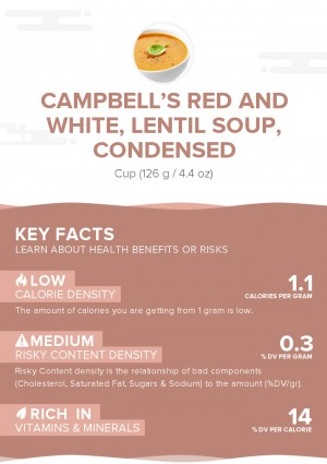 CAMPBELL'S Red and White, Lentil Soup, condensed