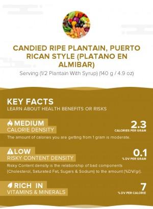 Candied ripe plantain, Puerto Rican style (Platano en almibar)