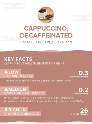 Cappuccino, decaffeinated