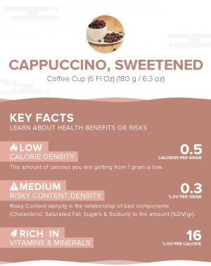 Cappuccino, sweetened