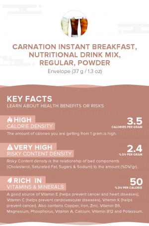 Carnation Instant Breakfast, nutritional drink mix, regular, powder
