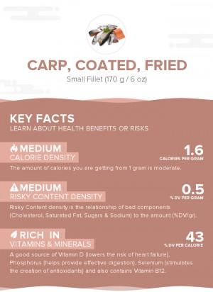 Carp, coated, fried