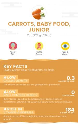 Carrots, baby food, junior