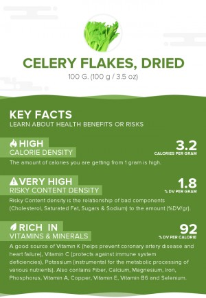 Celery flakes, dried