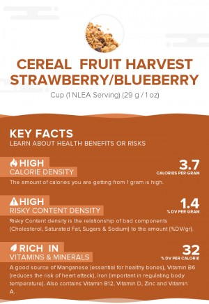 Cereal  FRUIT HARVEST Strawberry/Blueberry
