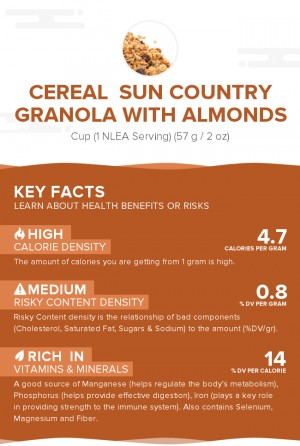 Cereal  SUN COUNTRY Granola with Almonds