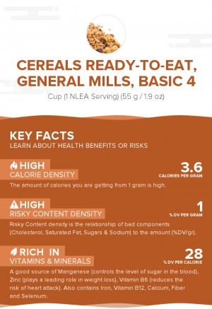 Cereals ready-to-eat, GENERAL MILLS, BASIC 4