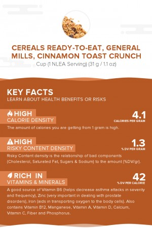 Cereals ready-to-eat, GENERAL MILLS, CINNAMON TOAST CRUNCH
