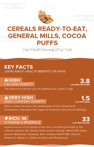 Cereals ready-to-eat, GENERAL MILLS, COCOA PUFFS