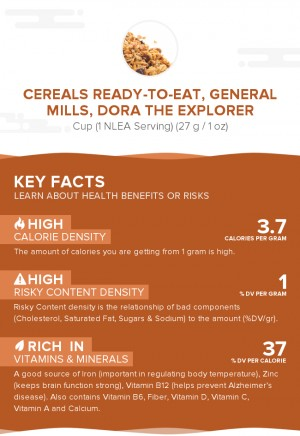 Cereals ready-to-eat, GENERAL MILLS, DORA THE EXPLORER