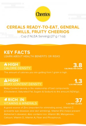 Cereals ready-to-eat, GENERAL MILLS, Fruity CHEERIOS