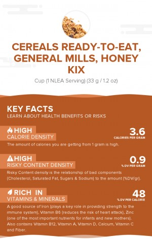 Cereals ready-to-eat, GENERAL MILLS, Honey KIX