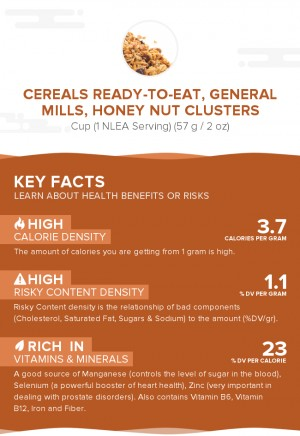 Cereals ready-to-eat, GENERAL MILLS, HONEY NUT CLUSTERS