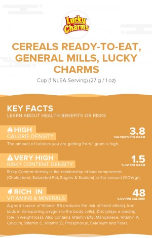 Cereals ready-to-eat, GENERAL MILLS, LUCKY CHARMS