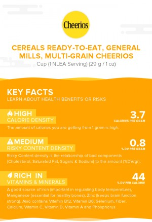 Cereals ready-to-eat, GENERAL MILLS, Multi-Grain CHEERIOS