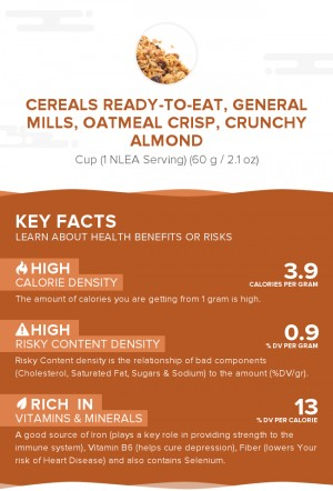 Cereals ready-to-eat, GENERAL MILLS, OATMEAL CRISP, Crunchy Almond