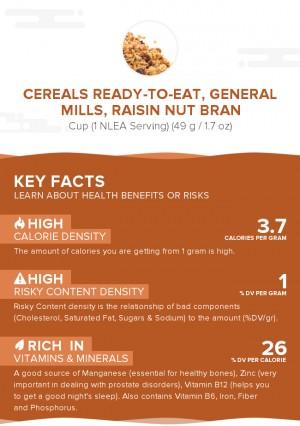 Cereals ready-to-eat, GENERAL MILLS, RAISIN NUT BRAN