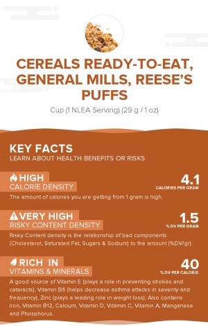 Cereals ready-to-eat, GENERAL MILLS, REESE'S PUFFS
