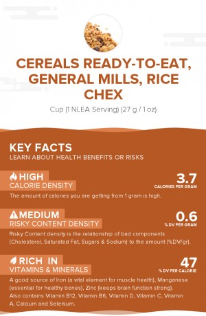 Cereals ready-to-eat, GENERAL MILLS, Rice CHEX