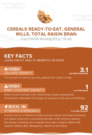 Cereals ready-to-eat, GENERAL MILLS, TOTAL Raisin Bran