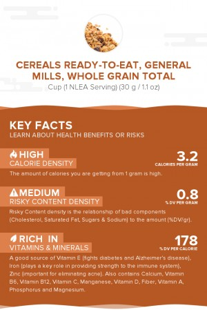 Cereals ready-to-eat, GENERAL MILLS, Whole Grain TOTAL