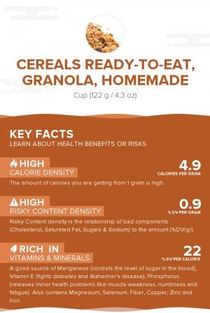 Cereals ready-to-eat, granola, homemade