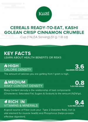 Cereals ready-to-eat, KASHI GOLEAN CRISP Cinnamon Crumble