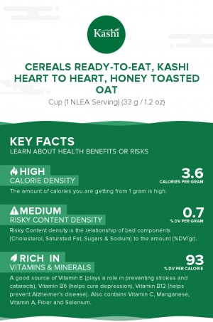 Cereals ready-to-eat, KASHI HEART TO HEART, Honey Toasted Oat