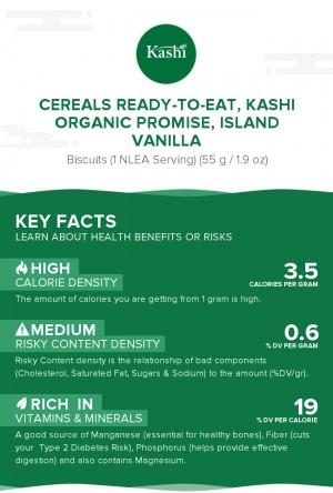 Cereals ready-to-eat, KASHI ORGANIC PROMISE, ISLAND VANILLA