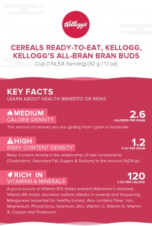 Cereals ready-to-eat, KELLOGG, KELLOGG'S ALL-BRAN BRAN BUDS