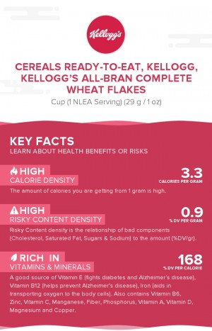 Cereals ready-to-eat, KELLOGG, KELLOGG'S ALL-BRAN COMPLETE Wheat Flakes