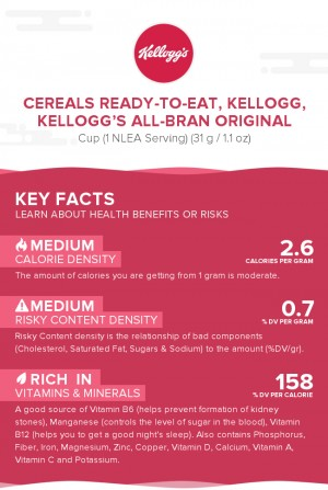 Cereals ready-to-eat, KELLOGG, KELLOGG'S ALL-BRAN Original