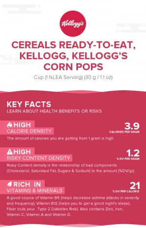 Cereals ready-to-eat, KELLOGG, KELLOGG'S CORN POPS