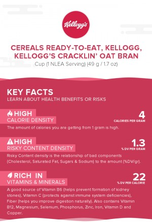 Cereals ready-to-eat, KELLOGG, KELLOGG'S CRACKLIN' OAT BRAN