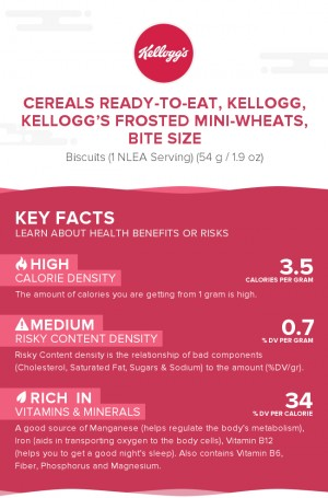 Cereals ready-to-eat, KELLOGG, KELLOGG'S FROSTED MINI-WHEATS, bite size