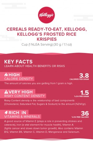 Cereals ready-to-eat, KELLOGG, KELLOGG'S FROSTED RICE KRISPIES