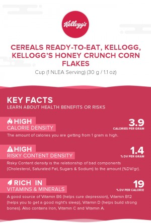 Cereals ready-to-eat, KELLOGG, KELLOGG'S HONEY CRUNCH CORN FLAKES