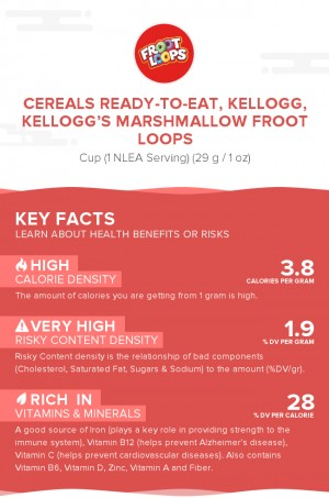 Cereals ready-to-eat, KELLOGG, KELLOGG'S MARSHMALLOW FROOT LOOPS