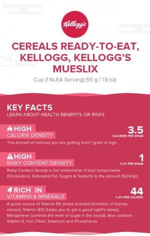 Cereals ready-to-eat, KELLOGG, KELLOGG'S MUESLIX