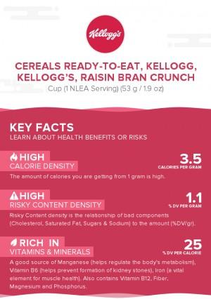 Cereals ready-to-eat, KELLOGG, KELLOGG'S, RAISIN BRAN CRUNCH