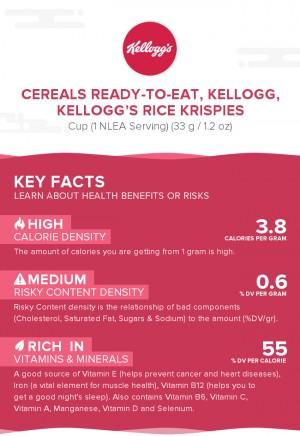 Cereals ready-to-eat, KELLOGG, KELLOGG'S RICE KRISPIES