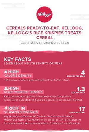 Cereals ready-to-eat, KELLOGG, KELLOGG'S RICE KRISPIES TREATS Cereal