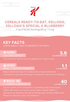 Cereals ready-to-eat, KELLOGG, KELLOGG'S SPECIAL K Blueberry